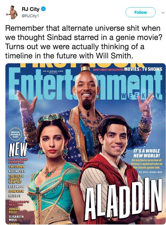 Twitter Is Not Thrilled About Will Smith's Genie | MemeSEM