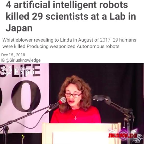 日本のトップのロボット企業の研究室で4台のロボットが29人の人間を○す事件がありました ->画像>17枚