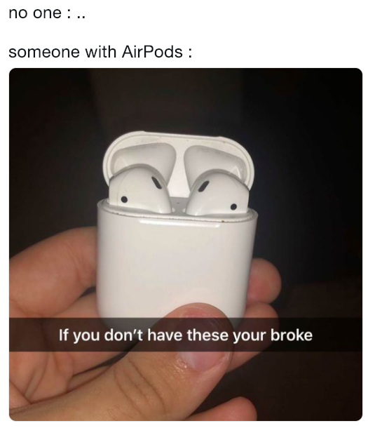 Image result for Airpod meme