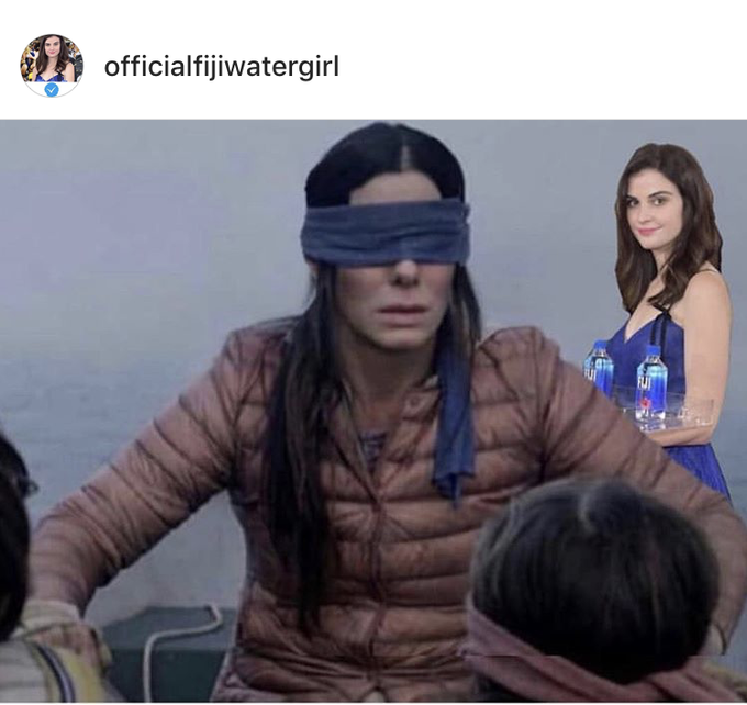 Image result for fiji water girl meme