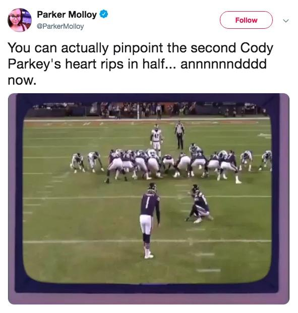 Cody Parkey S Missed Field Goal Know Your Meme