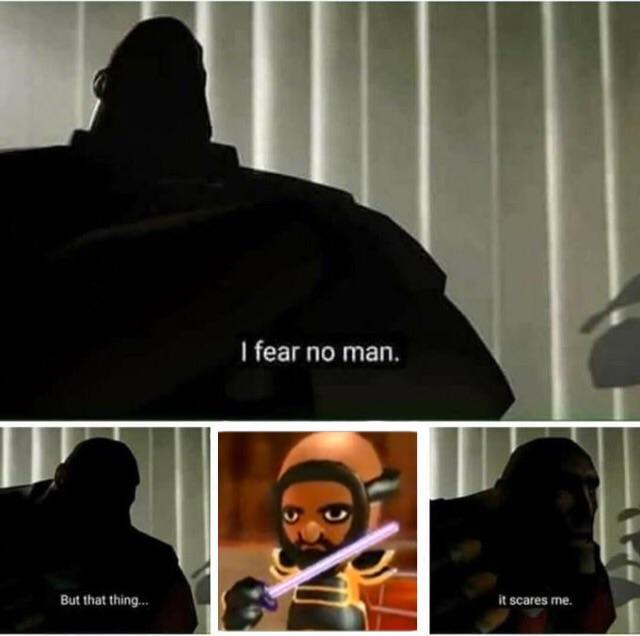 I fear no man. But that thing... it scares me. Text Font
