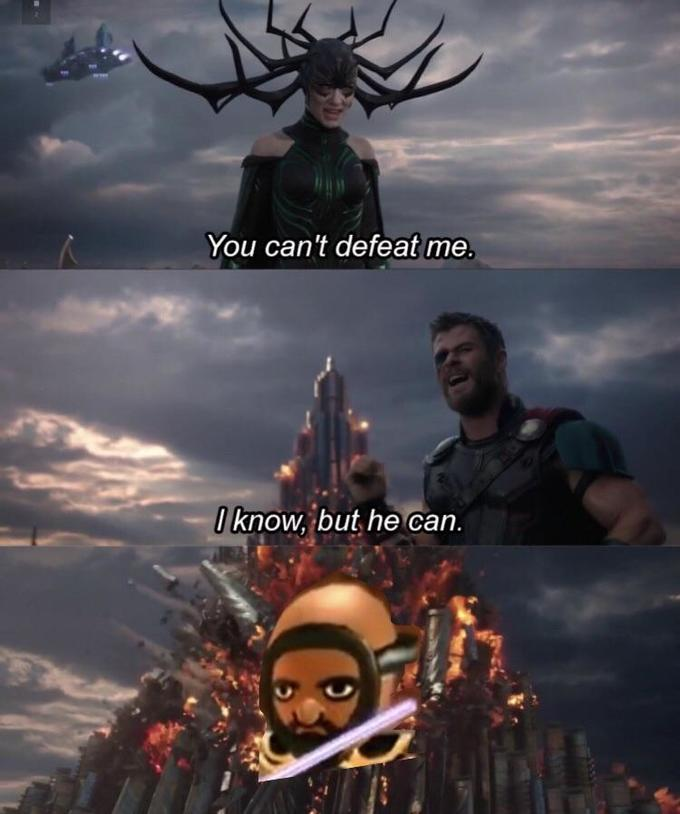 You can't defeat me I know, but he can. Sky Reindeer