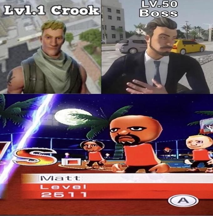 L Crook LV.5O Boss iattt Level Wii Sports Resort Games Movie