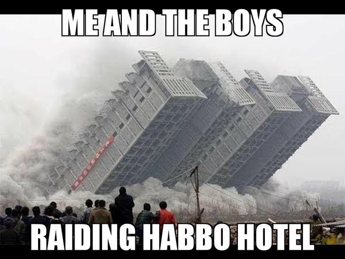 MEAND THE BOYS RAIDING HABBO HOTEL Font