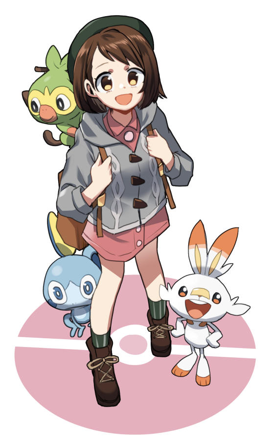 The Female Mc And Three Starters By Chawoo1357 Pokemon Sword And