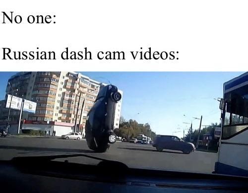 No one: Russian dash cam videos: Car Mode of transport Transport