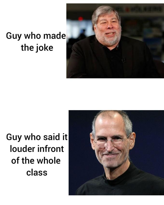 5665a5750dc0 ... Guy who made the joke Guy who said it louder infront of the whole class