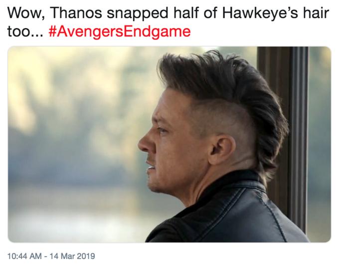 Hawkeyes Avengers Endgame Haircut Know Your Meme
