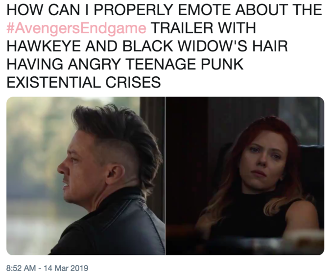 Hawkeye's Avengers: Endgame Haircut | Know Your Meme
