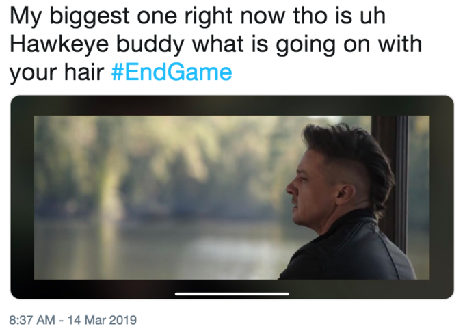 Hawkeye's Avengers: Endgame Haircut | Know Your Meme