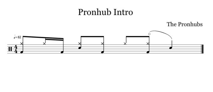 Pronhub Intro The Pronhubs 82 Text Line