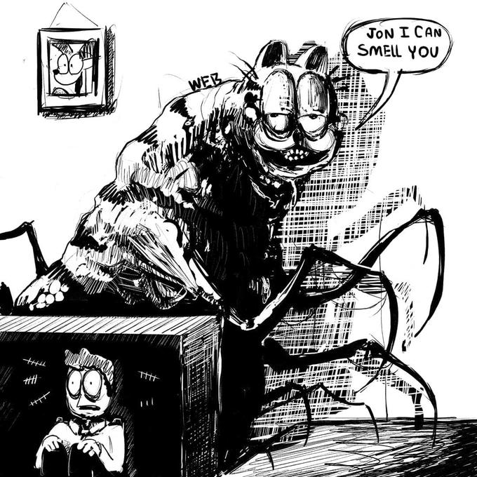 Creepy Garfield | Know Your Meme