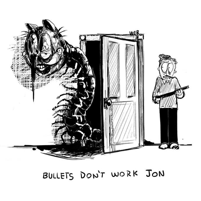 BULLETS DoN'T woRK JotN Cartoon