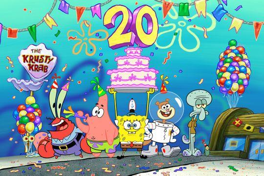 It's now the 20th Birthday of the first Spongebob episode