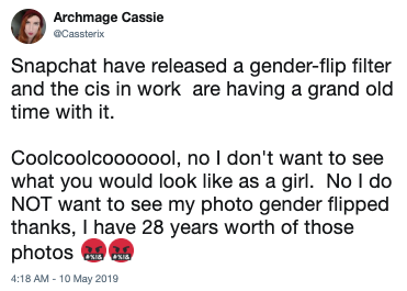Snapchat Gender Change Filter   Know Your Meme