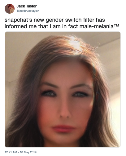 Snapchat Gender Change Filter | Know Your Meme