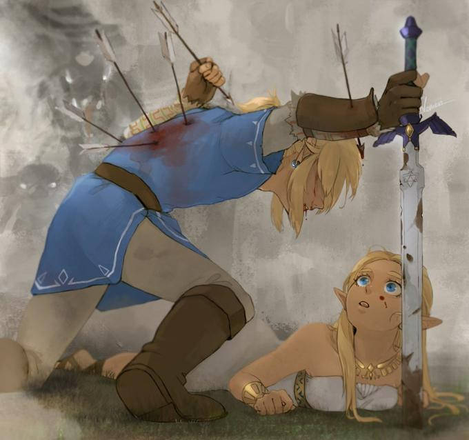 Link Protecting Zelda Know Your Meme