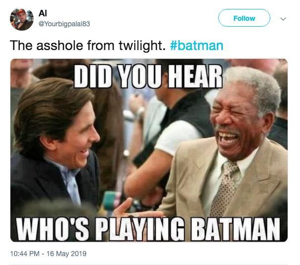 Resultado de imagem para robert pattinson batman meme
