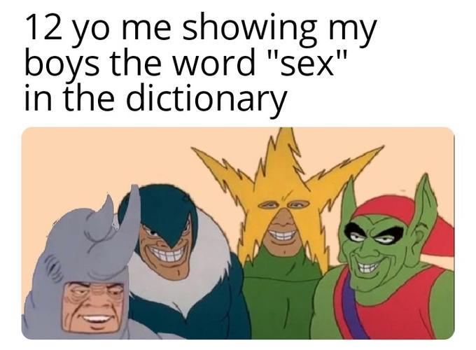 """12 yo me showing my bovs the word """"sex"""" in the dictionary Filthy Frank Cartoon Text Line"""