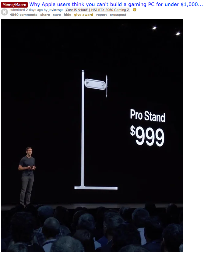 Apple Pro Stand 999 Price Know Your Meme