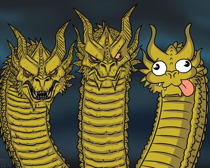 Three-Headed Dragon   Know Your Meme