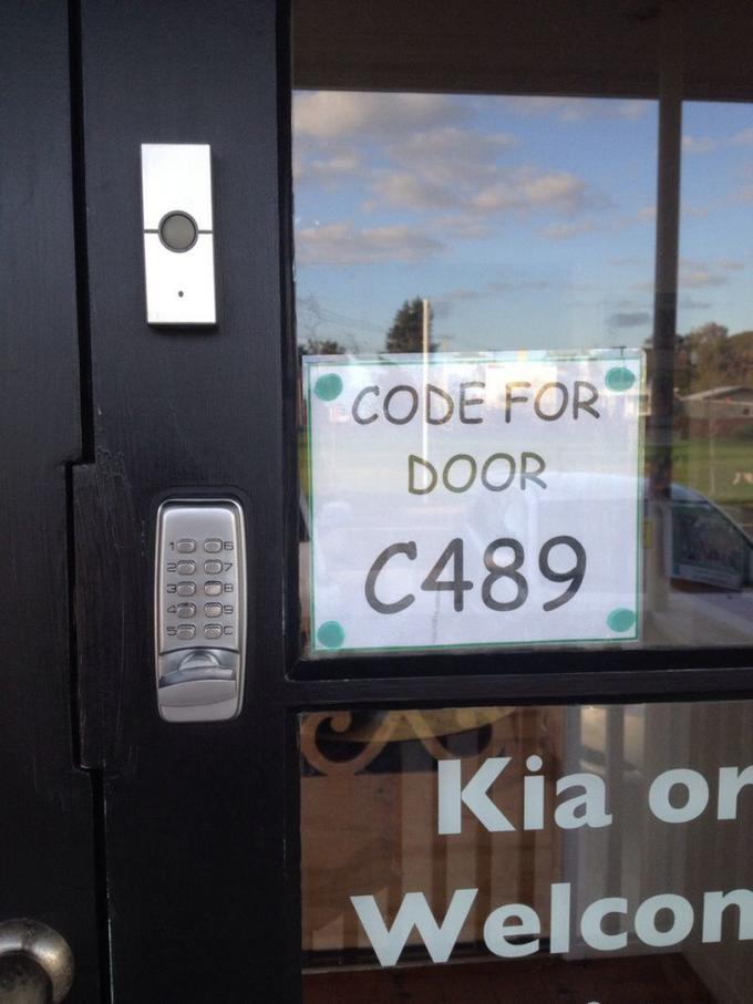 CODE FOR DOOR C489 Kia or Welcon 58880