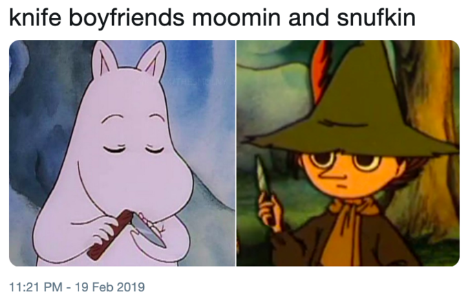 Moomin Holding Knife | Know Your Meme