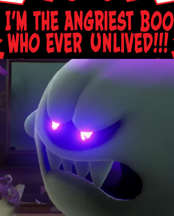 The Angriest Boo Luigi Know Your Meme