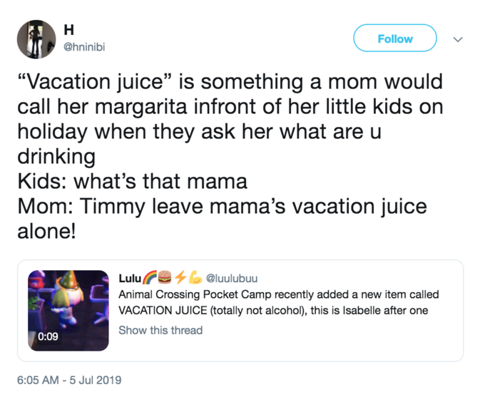 Vacation Juice | Know Your Meme