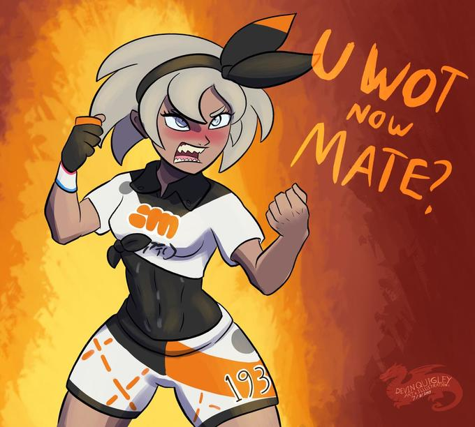 Gym Leader Bea Pokemon Sword And Shield Know Your Meme