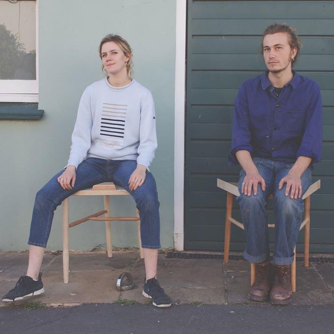 Sitting Standing Denim Shoulder Jeans