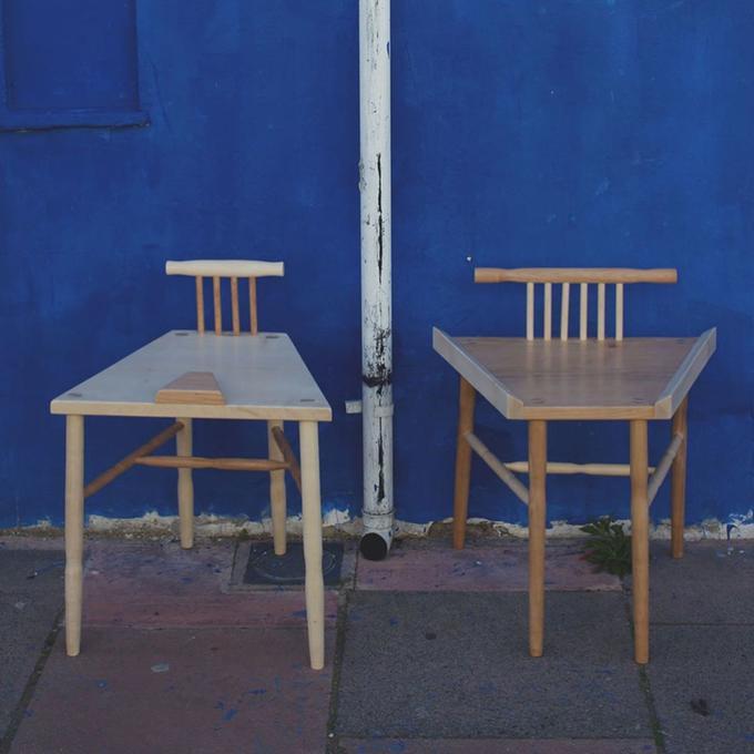 Chair Furniture Blue Chair Table