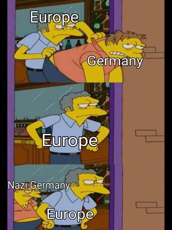 Europe Germany Moe Tossing Barney From Moe S Know Your Meme