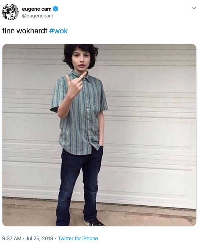 Finn Wolfhard Middle Finger Reaction Know Your Meme
