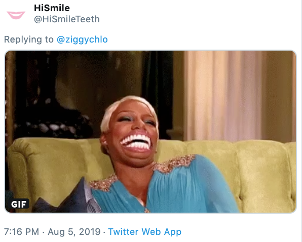 On One Hi Smile Tiny Teeth Advertisement Know Your Meme