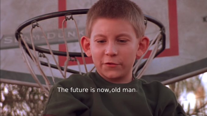 MADUN K The future is now, old man. Face Facial expression Head Forehead Cheek Chin Male Child