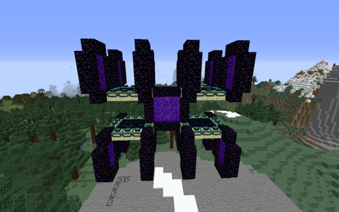 Yall flexin portals? how about nether portals cornering end