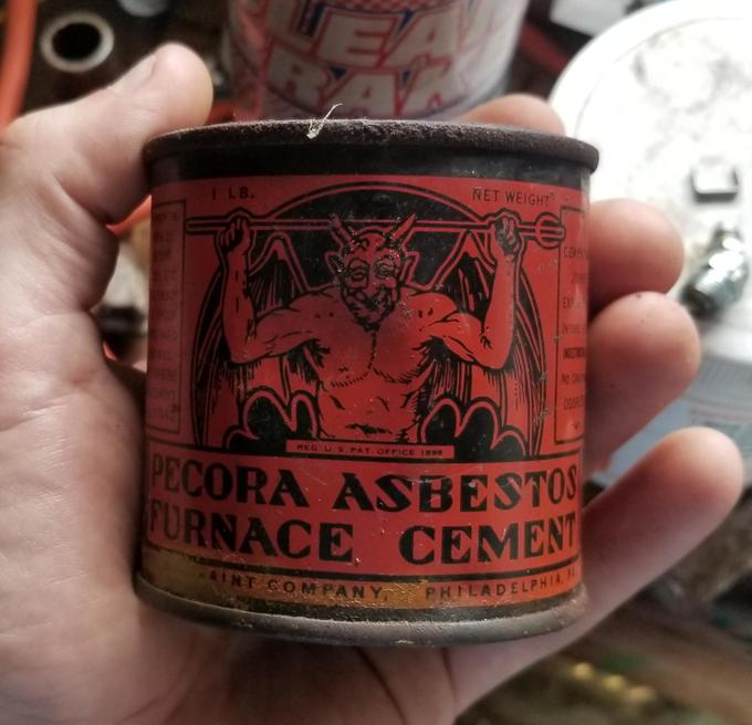 Can of asbestos found in an old barn
