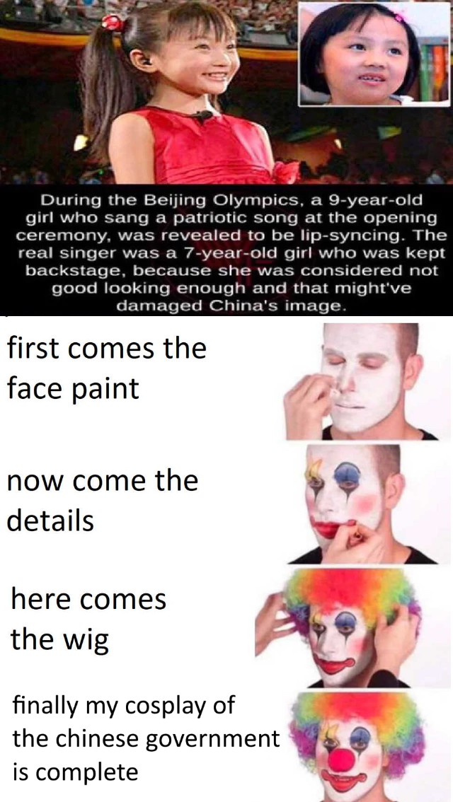 China bad   r/dankmemes   Putting on Clown Makeup   Know ...