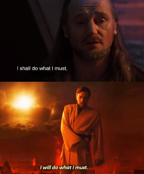Obi Wan S Hello There Was An Hommage To Episode 4 And I Just Ran Into This Star Wars Really Is Poetic R Prequelmemes Prequel Memes Know Your Meme