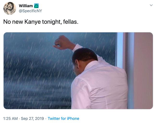 No New Kanye Tonight Fellas Kanye West S Jesus Is King