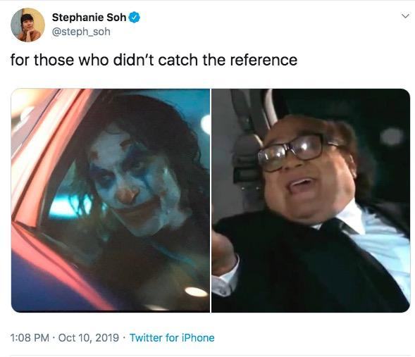 Stephanie Soh @steph_soh for those who didn't catch the reference 1:08 PM Oct 10, 2019 Twitter for iPhone Selfie Photo caption Photography
