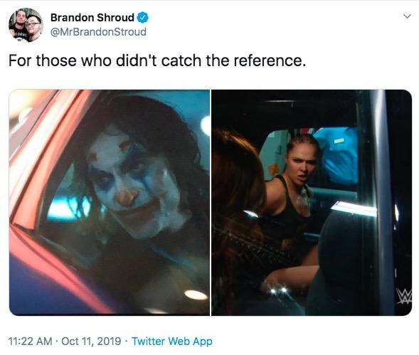Brandon Shroud @MrBrandonStroud For those who didn't catch the reference. 11:22 AM Oct 11, 2019 Twitter Web App Product Text