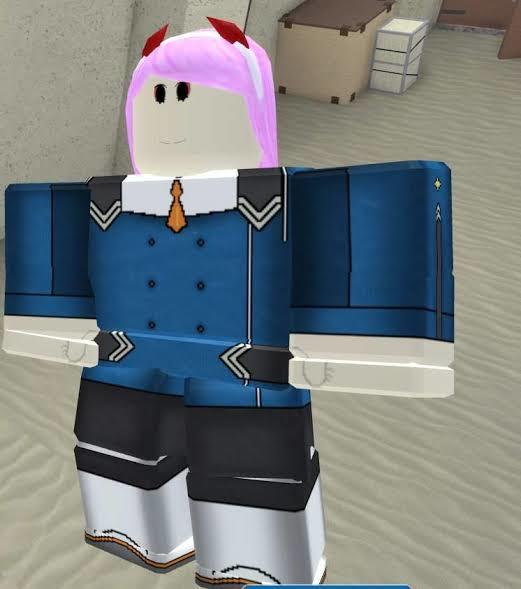 Zero Two Aka Ace Pilot In Roblox Arsenal Darling In The Franxx