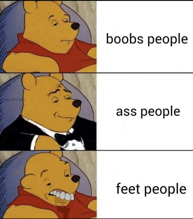 feet people | Tuxedo Winnie the Pooh | Know Your Meme