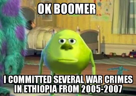 ОК ВООМER ICOMMITTED SEVERAL WAR CRIMES IN ETHIOPIA FROM 2005-2007 Animated cartoon Cartoon Animation Photo caption Internet meme