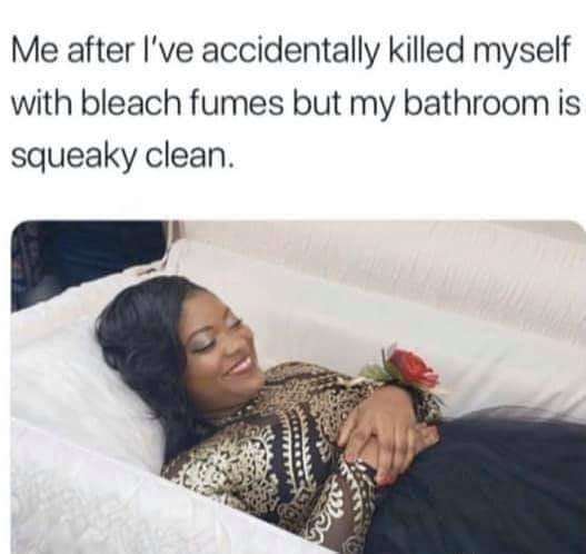 Rip To Me And My Clean Bathroom Know Your Meme