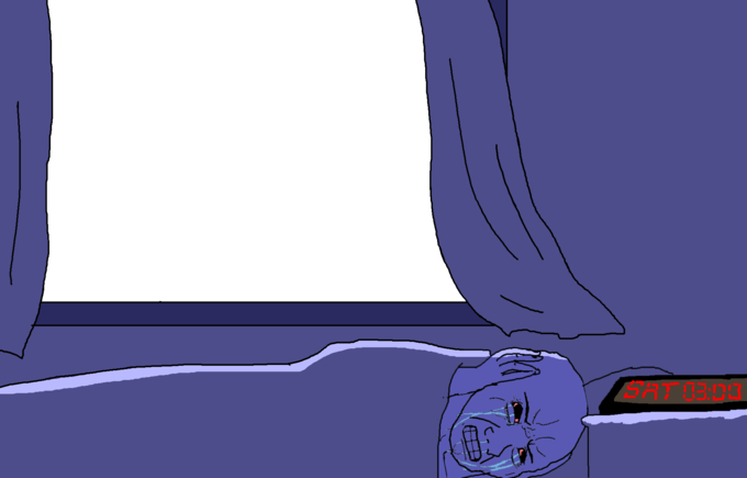 Wojak Trying To Sleep Know Your Meme