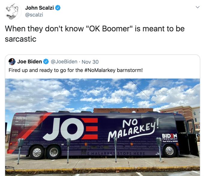 John Scalzi @scalzi When they don't know